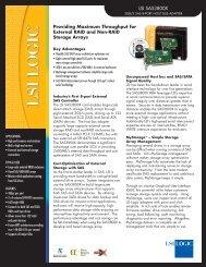 LSI SAS3800X 3GB/S SAS 8-Port Host Bus Adapter Product Brief - VB