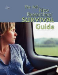 The IMS New Researchers' Survival Guide - Institute of ...