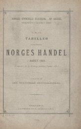 Tabeller Vedkommende Norges Handel i Aaret 1881 - SSB