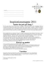 Inspirationsmappe 2011 - Hørning Kro & Hotel