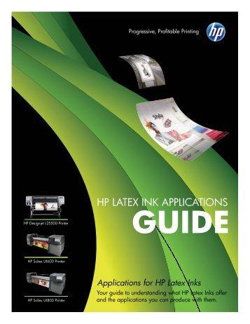 HP LateX Ink aPPLIcatIonS