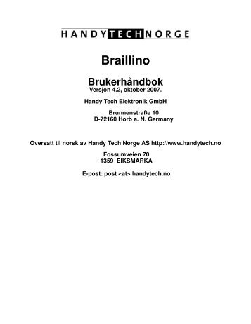 Braillino - Handy Tech Norge AS