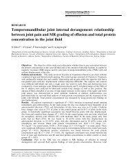 Temporomandibular joint internal derangement - Dentomaxillofacial ...