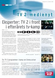 Eksperter: TV 2 i front i efterårets tv-kamp