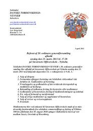 VENNER Referat af 20. ordinære generalforsamling afholdt onsdag