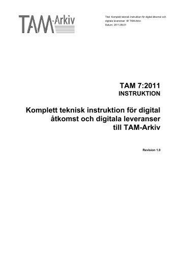 Digital åtkomst och digitala leveranser - TAM-Arkiv