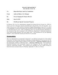 Fire/Rescue Special Assessment Program