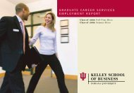 Graduate Career ServiCeS employment report - Kelley School of ...