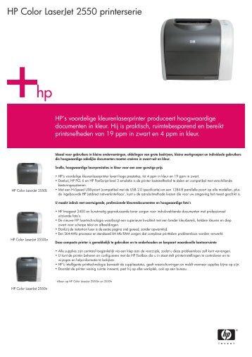 HP Color LaserJet 2550 printerserie - VB