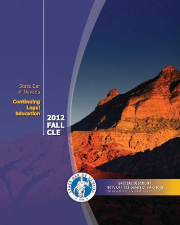 2012 FALL CLE - State Bar Of Nevada