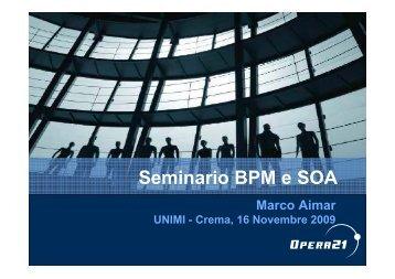 Seminario BPM e SOA