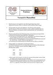 Anleitung - Positron Annihilation in Halle - Martin-Luther-Universität ...