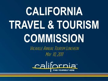 Vacaville Annual Tourism Luncheon - the California Tourism ...