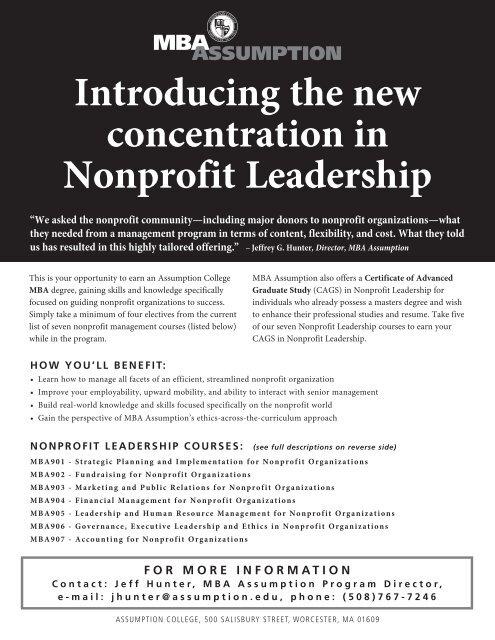 What Can New Voucher Studies Tell Us >> Npl Promo Sheet Graduate Studies At Assumption College