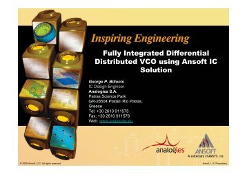 Fully Integrated Differential Distributed VCO using Ansoft IC Solution