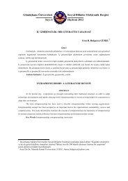 İç Girişimcilik: Bir Literatür Taraması - GÜ SBE Elektronik Dergisi ...