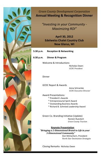 Program - Green County Development Corporation