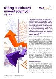 Zobacz tabele: Rating funduszy inwestycyjnych - Inwestycje www ...