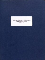 Racial Discrimination in Massachusetts: A Bibliographic Review