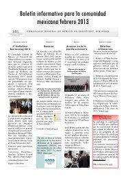 Boletín informativo para la comunidad mexicana febrero 2013