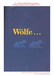 Jos. A. Massard (1986): Wölfe in Luxemburg. Lëtzebuerger ...