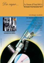 Le Forum d´Vinyl Ausgabe Fortsetzung September 2011 - Da capo