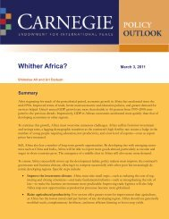 Whither Africa? - Carnegie Endowment for International Peace