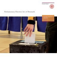Parliamentary Election Act of Denmark - Folketinget