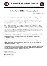 Kreispokal 2011/2012 Rundschreiben 1 - Tischtennis-Kreisverband ...