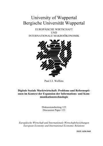 Digitale Soziale Marktwirtschaft: Probleme und ... - EIIW