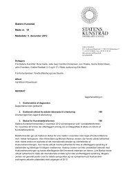 Referat af møde i Statens Kunstråd den 5. december 2012 - Kunst.dk