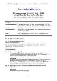 Referat fra - KFUM's Sociale Arbejde i Danmark