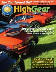 High Gear - Rocky Mountain Region Porsche Club - Porsche Club of ...
