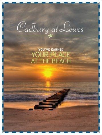2013 Cadbury Brochure - Cape Gazette