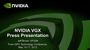 NVIDIA VGX Press Presentation - SB Nation