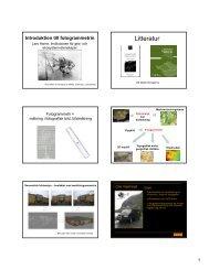 Litteratur - Institutionen för naturgeografi och ekosystemvetenskap