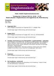 Referat 9. februar 2012 - Rebild Kommunale Ungdomsskole