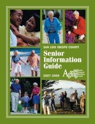 SAN LUIS OBISPO COUNTY Senior Information Guide