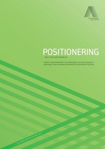 POSITIONERING - Alexandra Instituttet