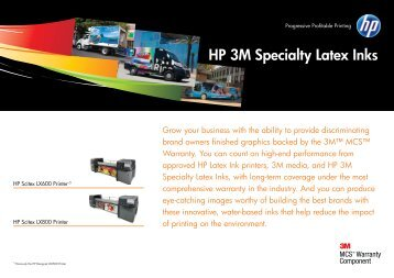 HP 3M Specialty Latex Inks