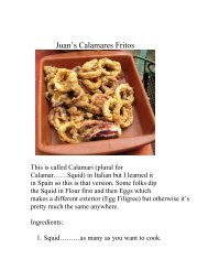 Juan's Calamares Fritos - The Geriatric Gourmet