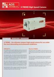 X-TREME High Speed Camera - AOS Technologies AG