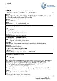 Referat fra Korpsledelsesmøde November 2012