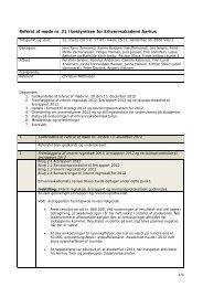 Referat af møde nr. 21 i bestyrelsen for Erhvervsakademi Aarhus