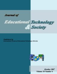 October 2007 Volume 10 Number 4 - Educational Technology ...