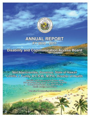 DCAB FY 10-11 annual report - Hawaii.gov