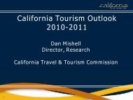 2009 - the California Tourism Industry Website