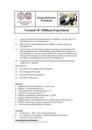 Versuch 35: Millikan-Experiment - Positron Annihilation in Halle ...