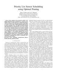 Priority List Sensor Scheduling using Optimal Pruning - IEEE Xplore