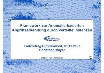 Slides - Karlsruher Institut für Technologie (KIT) - Institut für Telematik
